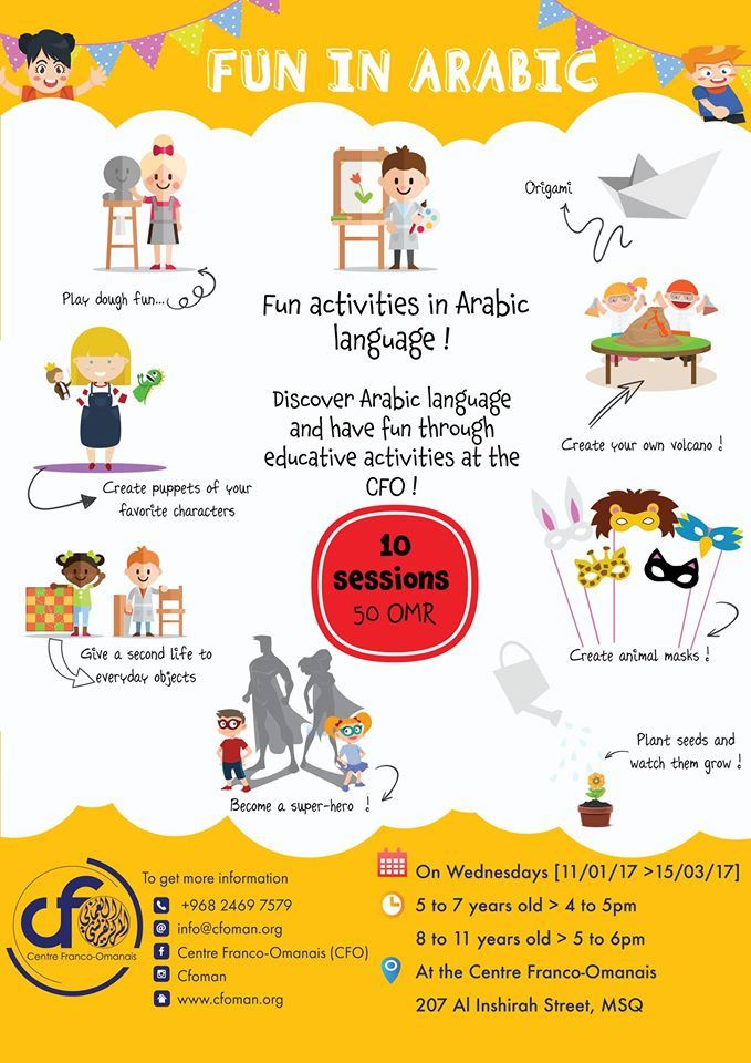 Muscat Mums - Fun in Arabic for 5-11 years old with Centre