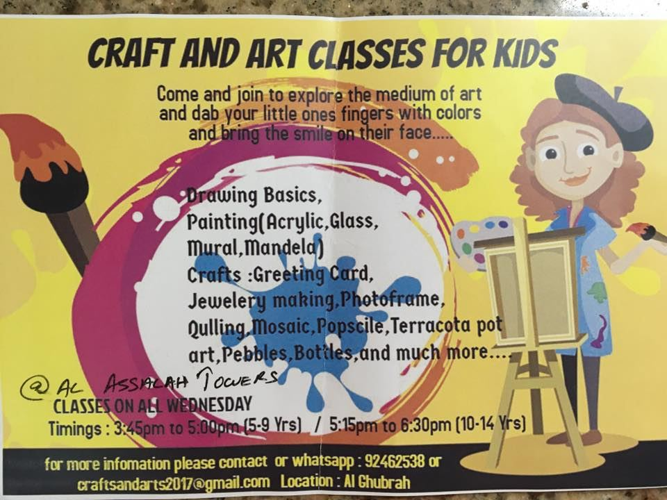 Muscat Mums Arts And Crafts Classes For Kids In Al Ghubrah